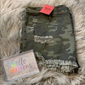 🆕 NWT MOSSIMO CAMOUFLAGE JEAN SHORTS SIZE 16